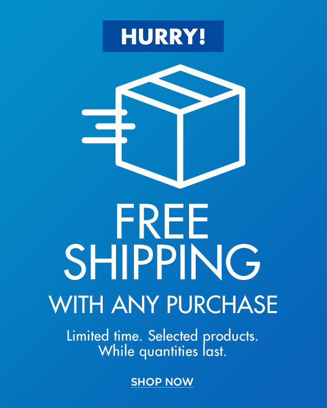 Free shipping with any purchase